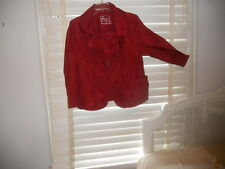 NWOT Aventures des Toiles France ~ Art to Wear ~ Crimson Memory Fabric Jacket 46