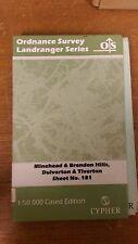 Minehead, Brendon Hills, Dulverton, Tiverton: OS Landranger Map #181 (M9)
