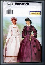 Butterick 6694 Ladies Victorian Civil War Costume Dress Pattern Uncut 6 8 10
