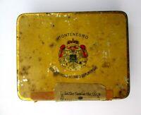 Vecchia scatola in latta MONTENEGRO REGIE COINTERESSEE DES TABACS