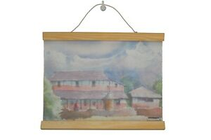 Decoratr | Traditional Nepalese House Painting | wall Scroll | room decor