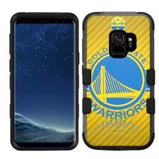 Samsung Galaxy S9 Rugged Impact Hard Hybrid Case Golden State Warriors #Y