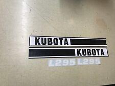 Kubota L295 Hood Decals