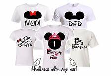 Minnie Birthday Girl Family Matching shirts. disney Vacation Mickey party shirts