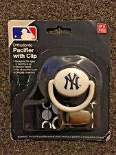 NY New York Yankees Team Logo Orthodontic Baby Pacifier With Clip