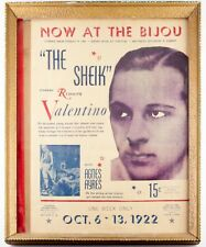 """Original Movie Poster for """"The Sheik"""" Starring Rudolph Valentino October 1922"""