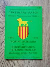 More details for northumberland v derek morgan's international xv 1980 centenary rugby brochure