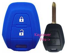 BLUE SILICONE CAR KEY COVER CASE SUITS ISUZU DMAX D-MAX MUX TRUCK UTE 2013