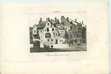 ANTIQUE JOHN KNOX HOUSE EDINBURGH SCOTLAND SCOTTISH ARCHITECTURE ITALIAN PRINT