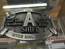 Peabody Coal Company River King U/G #1 A Shift Zero Time Lost Accidents Belt Bck