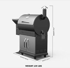 Z GRILL WOOD FIRED PELLET GRILL WITH CART BASE AND FREE BAG OF  PELLETS #YGP7008