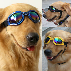 BL_ BE_ Pet Dog UV Protective Foldable Sunglasses Goggles For Large Dogs Eye Wea
