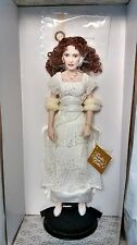 "Franklin Mint Titanic Rose PORCELAIN Doll "" REUNITED "" Heaven Gown with COA."