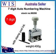 Self Inking 7 Figures Black Cap Stamping Automatic Numbering Machine w Free Ink