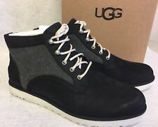 UGG AUSTRALIA BETHANY CANVAS Black 1016668 Women's Nubuck / Canvas Lace Up