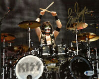 ERIC SINGER SIGNED AUTOGRAPHED 8x10 PHOTO LEGENDARY DRUMMER KISS BECKETT BAS