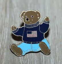 Ralph Lauren Polo Bear USA flag casual pin badge