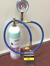 R22 R-22 Refrigerant 22, Recharge Kit, LARGE 35 oz. Can, Taper, Hose & Gauge