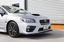 STI V1 Style PP Front Lip For MY14-17 Subaru WRX / STI Pre-Facelift (UNPAINTED)