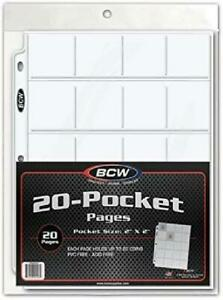 """Coin Protector Album Binder Plastic Sheets Sleeves 20 Pocket x 20 Pages 2"""" x2''"""