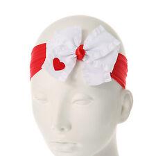 Heart Bow Headband Red & White Headwrap Valentine's Day Head Wrap Head Band Nwt