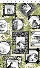 In the Beginning Cat Centric by Gray Sky 1GSD3 Black Sampler  BTY Cotton Fabric