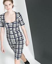 Zara Women's Check 3/4 Sleeve