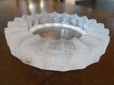"""Vintage Lalique France Crystal JAMAIQUE ASHTRAY 10702 Clear & Frosted Glass 5.5"""""""
