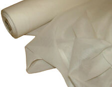 50 Metre Roll of French 100 Cotton Muslin Voile Fabric Curtain - White
