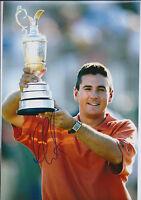Ben CURTIS SIGNED Autograph 12x8 Photo AFTAL COA 2003 Open CHAMPION Golf