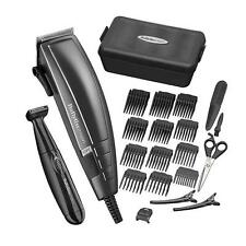 Babyliss 7447BU Black Corded Mens Trimmer set 10 Guide Comb Stainless Blades New