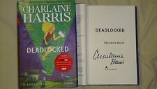 SIGNED Charlaine Harris Deadlocked A Sookie Stackhouse Novel Book 1/1 HC DJ True