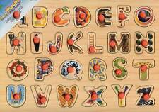 BRAND NEW WOODEN ALPHABET  PIN PUZZLE-GR8 GIFT IDEA