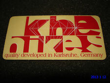 1 AUTHENTIC SMALL RED KHE BIKES QUALITY DEVELOPED IN GERMANY STICKER #22 DECAL