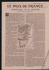 Map Carte Syria Syrie Palestine Mandat Français/Athlétisme 1919 ILLUSTRATION
