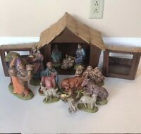 Atlantic Mold Christmas Nativity Set 16 Pc Vintage  Rhinetones Christian Holiday