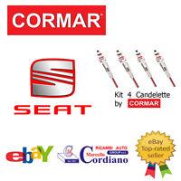 KIT 4 CANDELETTE SEAT ALTEA 1.9 TDI DA ANNO 2004 CORMAR