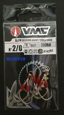 VMC 7117AH Slow Jigging Assist Doble Anzuelo Con Crystal Flash 130LB Braid Size