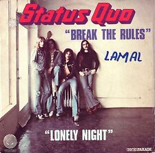 """7"""" Status Quo – Break The Rules // French 1974"""