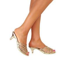 Mules No Pattern Kitten Party Heels for Women