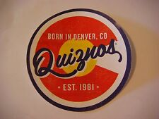 Collectible STICKER ~ QUIZNOS Fast Food Sandwich Chain ~ Born in Denver, CO 1981