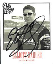 ELLIOTT SADLER  -  Autographed [f5]   2002 Press Pass VINTAGE  Card #VN20