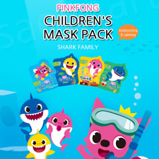 Pinkfong Shark Family Kids` Mask Children pack sheet Safe ingredient 20 ml x 4 p