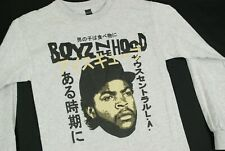 Vintage Boyz N The Hood Ice Cube Long Sleeve Rap T Shirt Concert Mens S Hip Hop