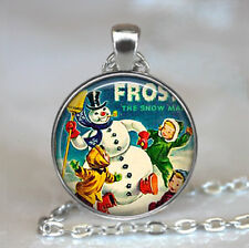 Frosty the Snowman pendant,Christmas jewelry,Christmas pendant,snowman necklace