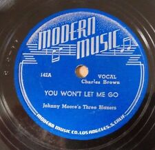 Johnny Moore's Three Blazers w/ Charles Brown Modern 142 Blues Boogie 78 1946 V+