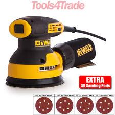 DeWalt DWE6423 125mm Random Orbit Sander 240v & 40 Extra 125mm Sanding Sheets
