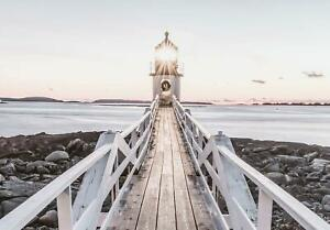 Vlies Fototapete Leuchtturm Landschaft Meer Wohnzimmer Natur Brücke Strand 242