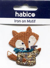 Iron On Motif - Mr Fox Sew on or Iron on Motif to Personalise NEW
