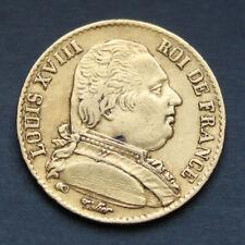 Pièce Or 20 Francs Louis XVIII Buste habillé 1814 A Gold Coin France